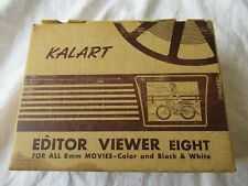 Kalart 8mm Film Movie Editor Viewer Eight - in Original Box & operator's manual