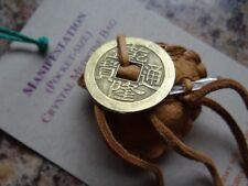 Handmade *MANIFESTATION* Crystal Pocket Mojo Medicine Bag Voodoo Pagan