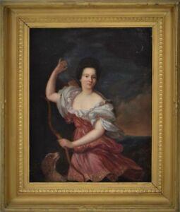 18th century portrait of lady as Diana the Huntress follower Godfrey Kneller