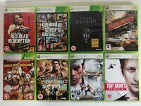 Xbox 360 Games Bundle X 8 Joblot GTA 5, Red Dead Redemption, Skyrim, Burnout Etc