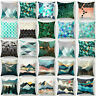 Geometric Throw PILLOW COVER Blue Green Decorative Cushion Case Home Decor New