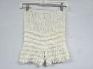 Vintage Bloomers Ruffled Lace Dance Shorts Retro Swing White