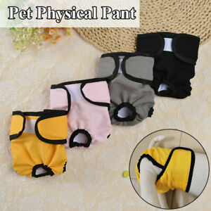 Female Pet Dog Physiological Safety Pants Puppy Menstrual Sanitary Nappy Diaper#