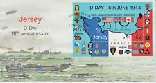 Unaddressed Jersey FDC First Day Cover 2004 D-Day Anniversary Sheet 10% off 5