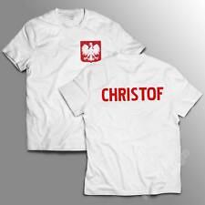 T-shirt POLSKA + YOUR NAME TWOJE IMIE Poland Polish team koszulka ROSJA 2018