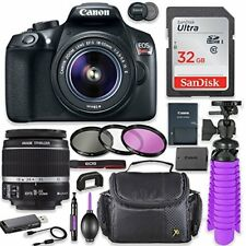 Canon EOS Rebel T6 18MP Camera + Canon 18-55mm IS II Lens + Professional Bundle