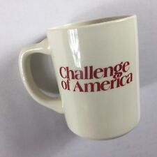 Challenge Of America Mug VTG Coffee Cup USA Made Liberty Independence Freedom