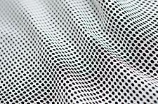 "56"" Wide White Mesh Fabric Utility Sports Weavers Weaving"