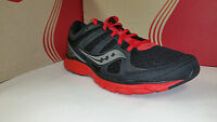 Saucony Men's Grid Crossfire Black Red Light Weight Running Shoes Size 7.5-12