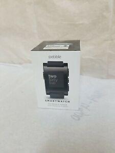 Pebble 301BL TPU Rubber Band Smartwatch - Jet Black