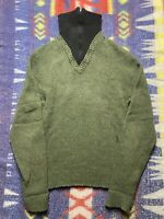 1970s Vintage Broadmoor Shetland Wool Green Black Knit Turtle Neck Sweater Zip M