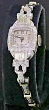 Hamilton antique Platinum elegant 1.10CT VS/G diamond mechanical ladies watch