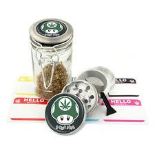 High Life - 42 mm- 4Pcs Small Size Grinder 75ml Jar Gift Set # G42-120915-9