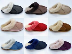 Yellow Earth UGG Slippers Ladies Scuff Australia Sheepskin Wool Indoor Shoes