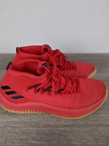 Adidas Dame 4 Basketball Shoe Red Black Gum Damian Lillard Size 6 Rip City