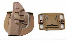 Quick Tactical Holster Left Hand Paddle with Belt Tan for Glock 17 18 19 32