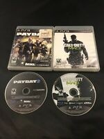 Lot of Sony Playstation 3 Games Payday 2 & Call of Duty Modern Warfare 3