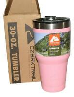SET OF 2-Ozark Trail Vacuum-Sealed Stainless Steel Tumbler, Pink, 30 oz