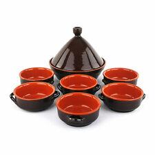 New listing Pot Tajine + 6 Bowls - Terracotta - Fire Pan Artisan - Coli