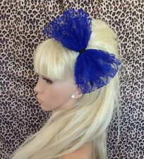Pin up Ariel Royal blue bow headband Nautical Sailor