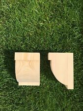 Wooden Corbels (Shelf Brackets) solid pine style C (1 pair)