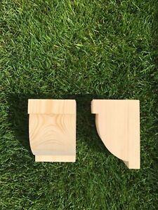 Wooden Corbels (Shelf Brackets) solid pine style C (1 pair)