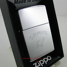 Zippo en TU MECHERO Camel Word bottom High polished Chrome cromo nuevo embalaje original