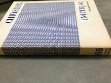 1966 Chrysler NEWPORT 300 IMPERIAL CROWN LEBARON Service Shop Repair Manual OEM