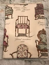 """Rare! Vintage Gianna Rose Heirloom Chairs 100% Cotton 54"""" Square Tablecloth USA"""