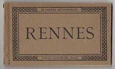 DÉPLIANT TOURISTIQUE TOURISME SOUVENIR - Rennes Collection Laurent-Nel 20 CP