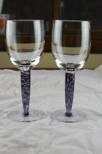 "2 Denby Amethyst 8 1/2"" Red Wine Glasses"