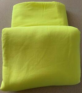 Fluro yellow polyester/cotton knit fleecy 160cm wide x 2.4mts sew-ezy-australia