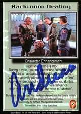 BABYLON 5 CCG Card Andreas Katsulas (1946-2006) Backroom Dealing AUTOGRAPHED