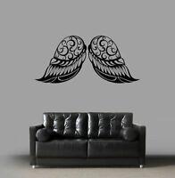 ik1823 Wall Decal Sticker wings of a bird monogram room Bedroom