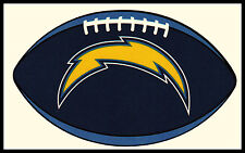SAN DIEGO CHARGERS OVAL FOOTBALL NFL TEAM LOGO INDOOR STICKER FOR LAPTOP