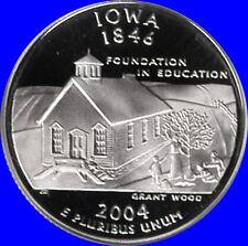 2004 S Clad Iowa State Quarter Deep Cameo Gem Proof  No reserve
