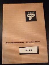 Welger Ballenwerfer P22 Anleitung + ET-Katalog