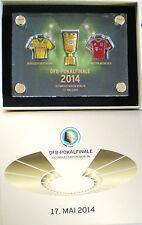 DFB POKAL-ENDSPIEL SET- ACRYL RAHMEN-BORUSSIA DORTMUND-FC BAYERN MÜNCHEN-17.5.14