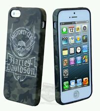 Harley-Davidson GENUINE winged skull camouflage shell for iPhone 5 NEW in box.