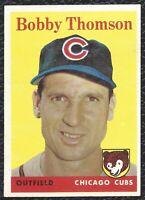 1958 58 Topps Bobby Thomson Vintage Baseball Card #430 Chicago Cubs - NEAR MINT!