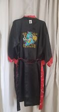 ROSE Just For You  Reversible KIMONO ROBE Size L Thailand - DRAGON Red Black