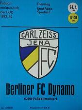 Programm 1983/84 FC Carl Zeiss Jena - BFC Dynamo