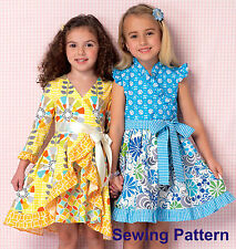 Kwik Sew K199 PATTERN-Baby Girls Dress & Sash - Ellie Mae Designs - BN - XXS-L