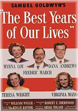 Photo Magnet Movie Poster The Best Years of our Lives 1946 Myrna Loy