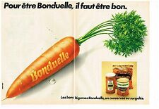 Publicité Advertising 1978 (2 pages) Les Légumes Bonduelle
