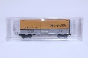 MTL N SCALE DENVER & RIO GRANDE WESTERN 40' SINGLE DOOR BOX CAR NEW IN BOX