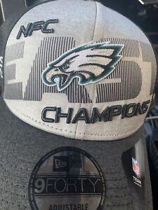 Philadelphia Eagles NFC EAST Champions Hat New Era Super Bowl 52 Year Rare