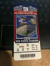 2010 NEW YORK GIANTS VS CAROLINA PANTHERS 1st Game MET LIFE TICKET STUB 9/12
