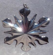 1998 American Heritage New England Sterling Snowflake Christmas Ornament Pendant