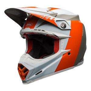 Bell Moto-9 Flex Division Matt/Gloss White Orange Sand